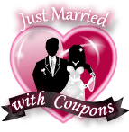 Just Married with Coupons Button