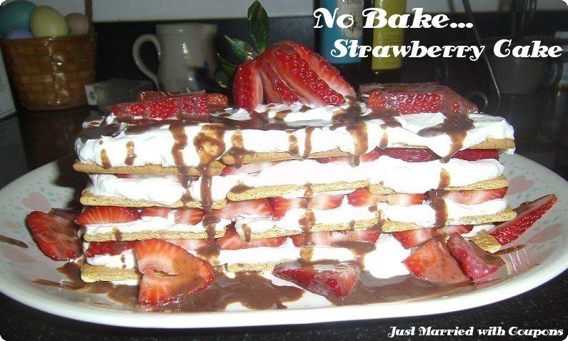 No Bake Strawberry IceBox Cake Recipe - Homemaking Hacks