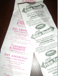 Dunkin donuts coupons money mailer