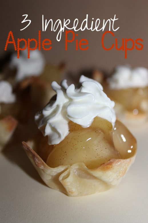 3 Ingredient Apple Pie Cups