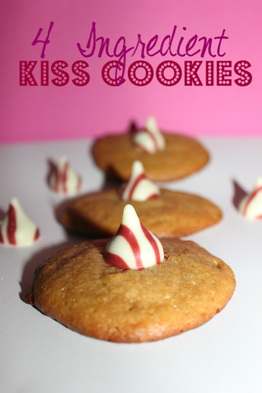 4 Ingredient Kiss Cookies