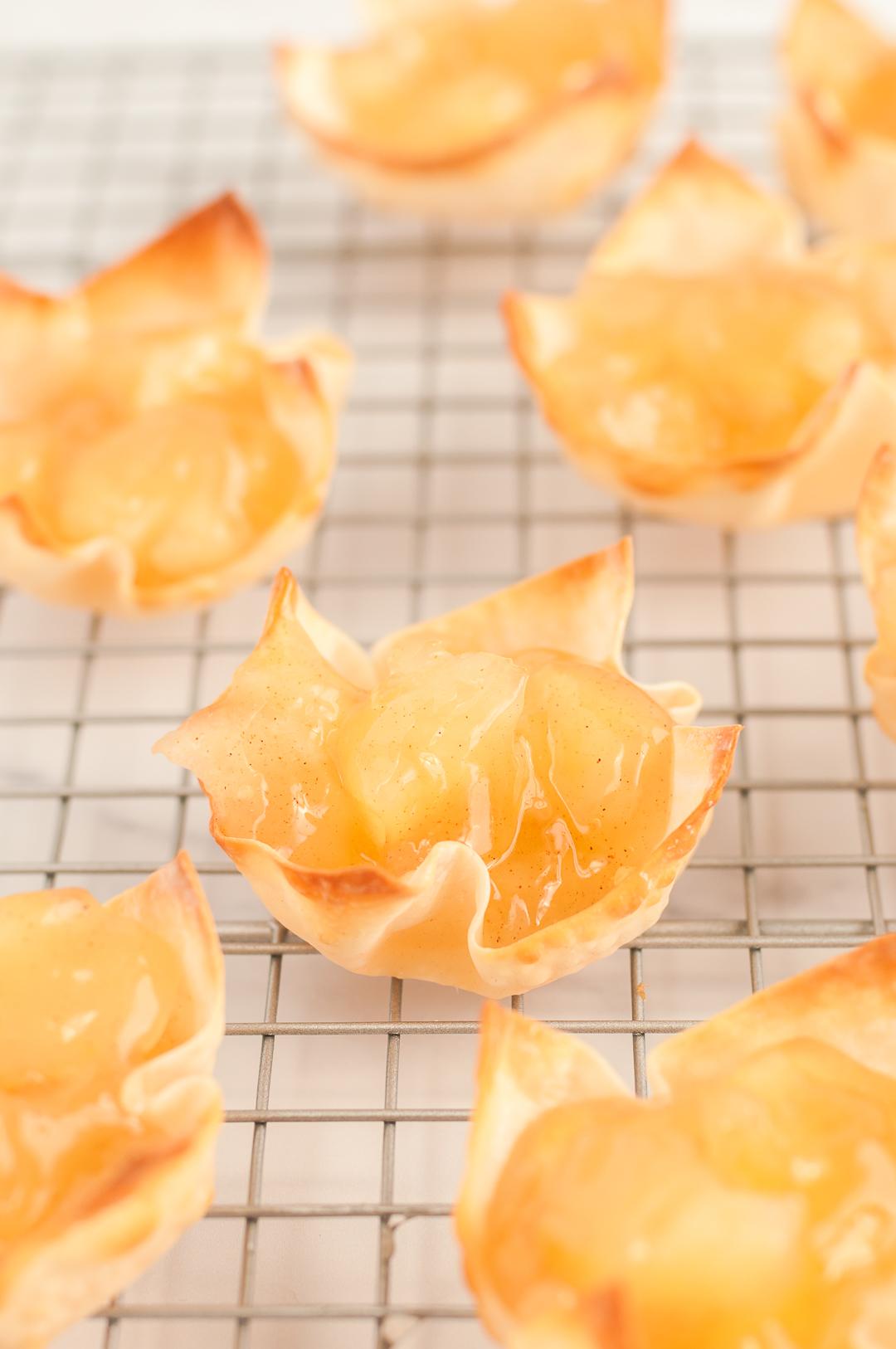 rack of mini apple pies