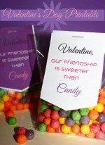 Printable Valentine's Day Craft: Sweet Friendship