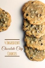 4 Ingredient Chocolate Chip Cookie Recipe