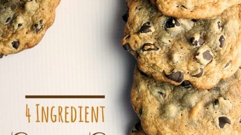 4 Ingredient Chocolate Chip Cookie Recipe