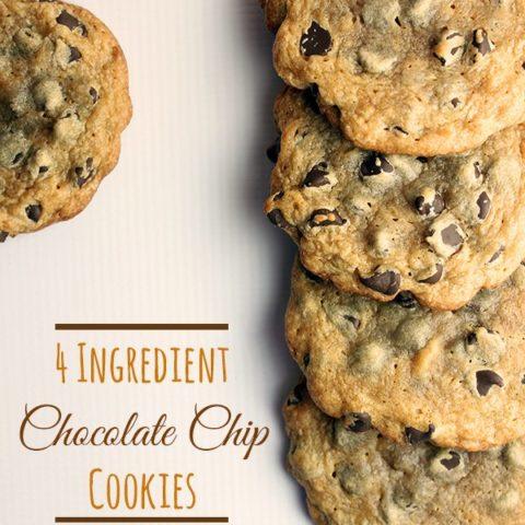 Delicioussoftchocolatechipcookieswithonlyingredients#cookies