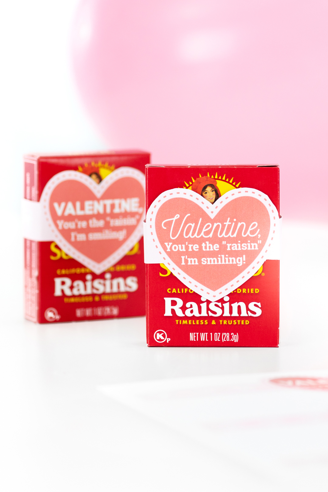 individual raisins for valentine's day gifts