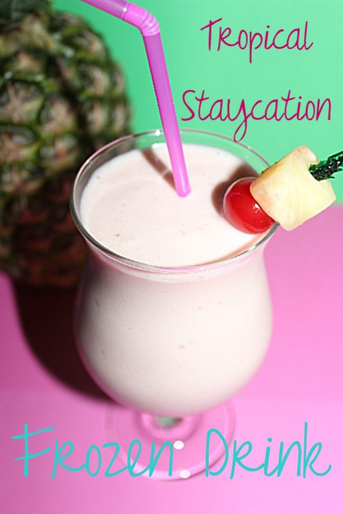 Tropical Staycation Frozen Drink Recipe