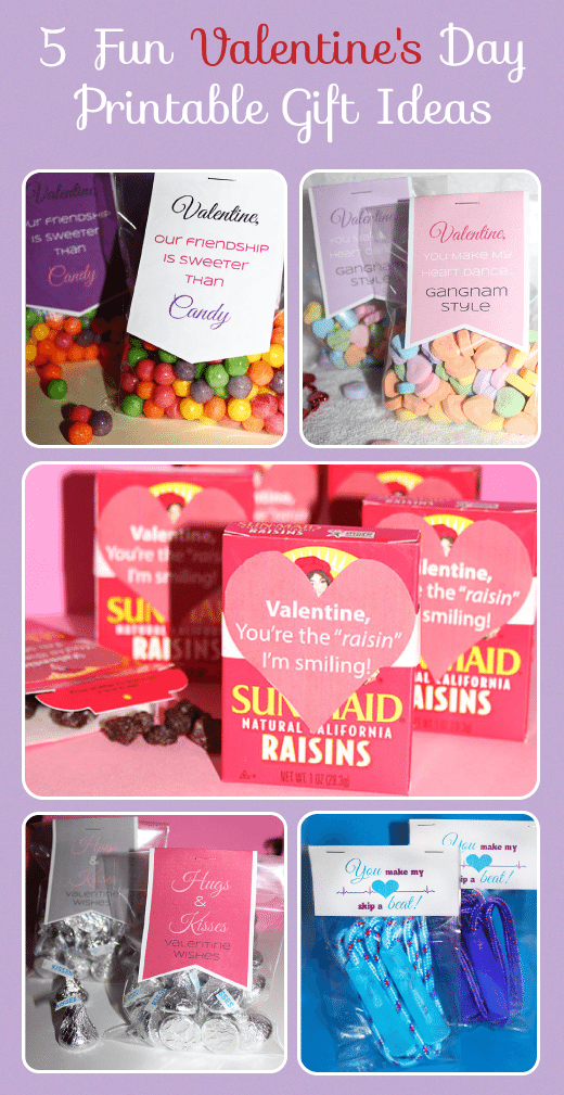 5 Printable Valentine's Day Gift Ideas #ValentinesDay #Crafts #Printables