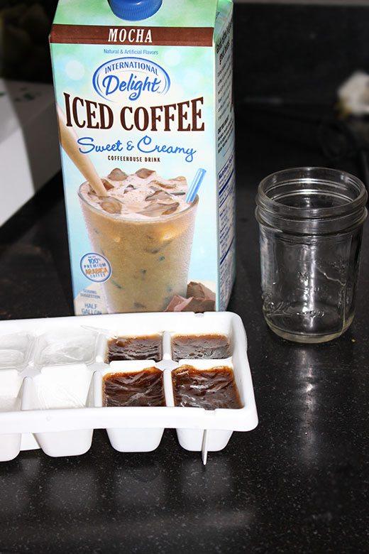 Frozen Mocha Iced Coffee Recipe #LightIcedCoffee #cbias