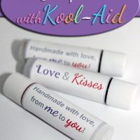 2 Ingredient DIY Lip Balm Made with Kool-Aid