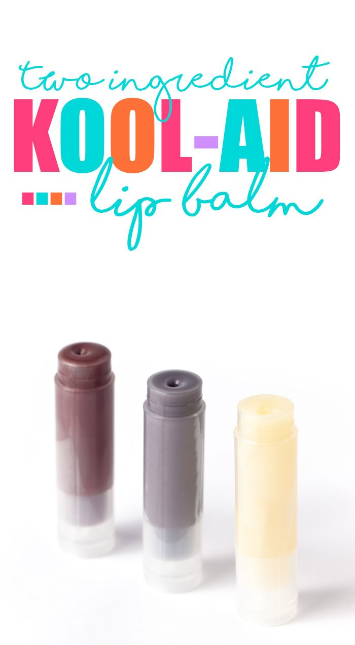2 ingredient kool aid lip balm diy.