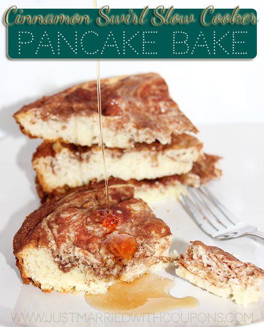 Slow Cooker Pancake Bake #Breakfast #Recipe