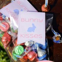 Printable Gift Topper: Give Bunny Kisses This Easter (Hopping Down Hershey's Bunny Trail)