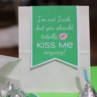 "Printable St. Patrick's Day Gift Tag ""I'm Not Irish, but You Should Totally Kiss Me Anyway"