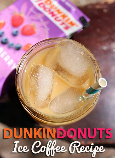 DunkinDonuts Iced Coffee #Recipe