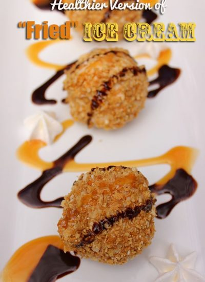 "Healthier ""Fried Ice Cream"" Recipe #HoneyBunchesGreek"