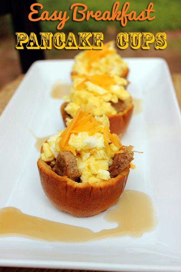 Easy Breakfast Pancake Cups Recipe | Cutefetti