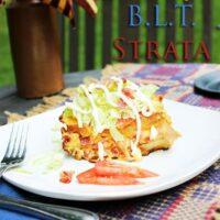 Velveeta Cheesy B.L.T. Strata Recipe #VelveetaRecipes