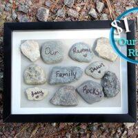 """DIY """"Our Family Rocks"""" Frame"""