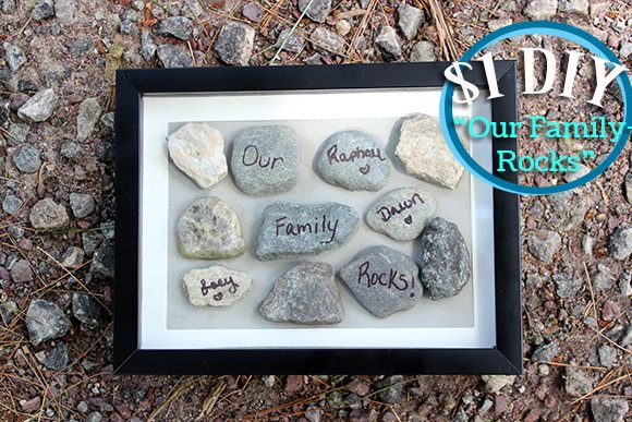 Diy Quot Our Family Rocks Quot Frame Cutefetti