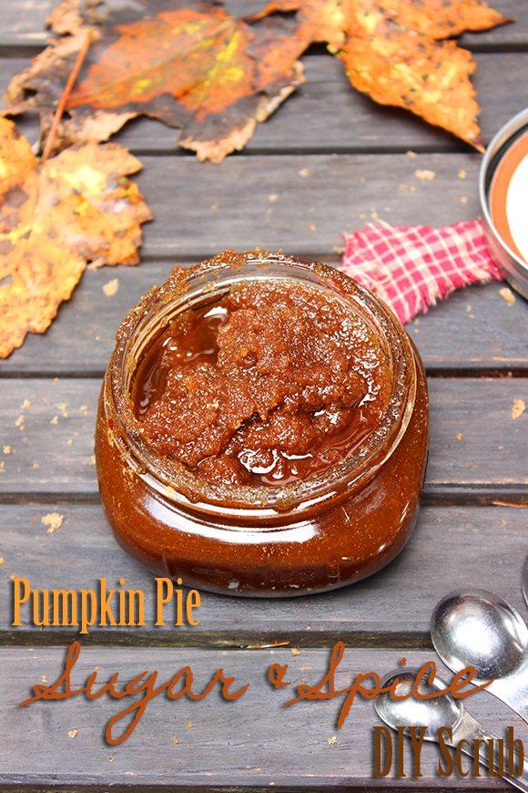 Pumpkin Pie Sugar and Spice DIY Body Scrub #DIY
