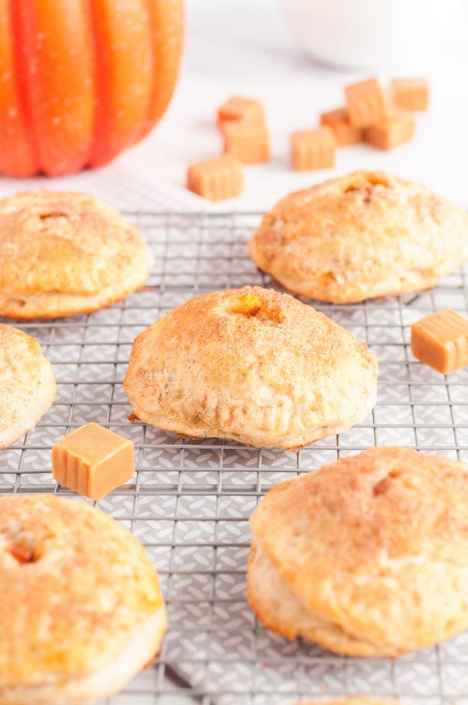pumpkin and caramel hand pies
