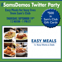Join me at the #SamsDemos Twitter Party!
