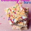 No Bake Birthday Cake Bars #recipe #desserts