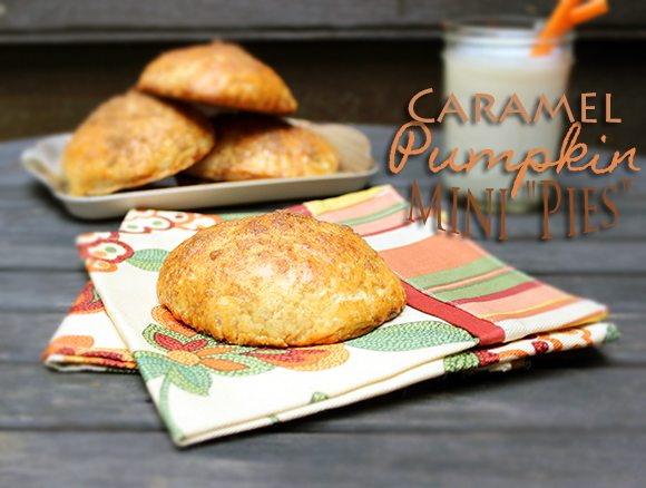 Caramel Pumpkin Mini Pies #Recipe