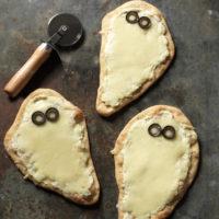 Individual Spooky White Pizzas Recipe