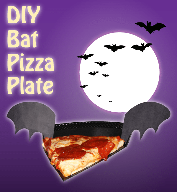 DIY Bat Pizza Plate #TrickUrTreat #Shop #Cbias
