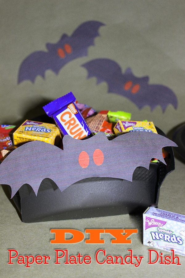DIY Paper Plate Candy Dish #shop #TrickUrTreat