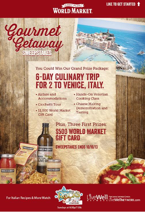 World Market #GourmetGetaway