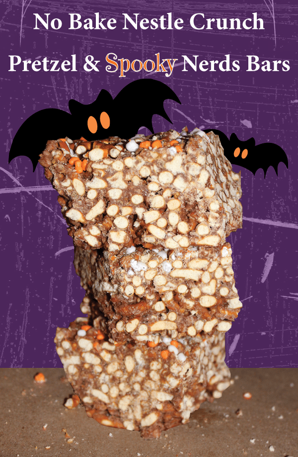 Make these easy No Bake Nestle Crunch & Pretzel Bars #TrickUrTreat #Shop #Cbias