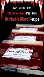 Gross Your Kids Out with Blood Sucking Pest Fun & Drinkable Blood Recipe #EEKologist
