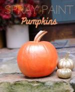 DIY Spray Paint Pumpkins