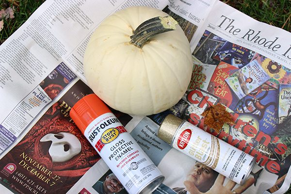 DIY Spray Paint Pumpkins