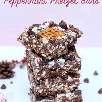 No Bake Peppermint Pretzel Bars Recipe