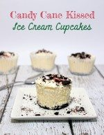 Candy Cane Kissed Ice Cream Cupcakes #HolidayHelper