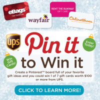 UPS Pin It To Win It Sweepstakes #NotABox #UPSHappy