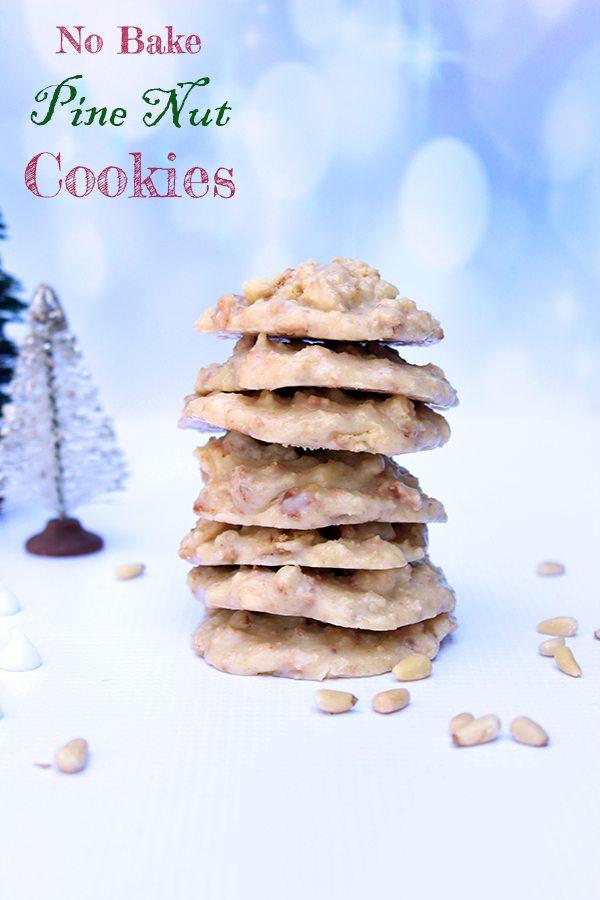no bake pine nut cookies