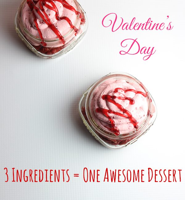 Super easy Valentine's Day Dessert with only 3 ingredients!