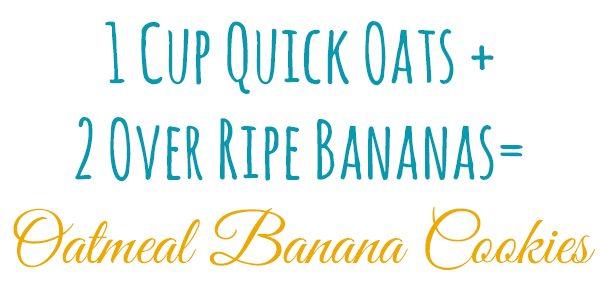 2 Ingredient Banana Oatmeal Cookies