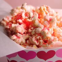 Perfectly Pink Popcorn Recipe with White Chocolate