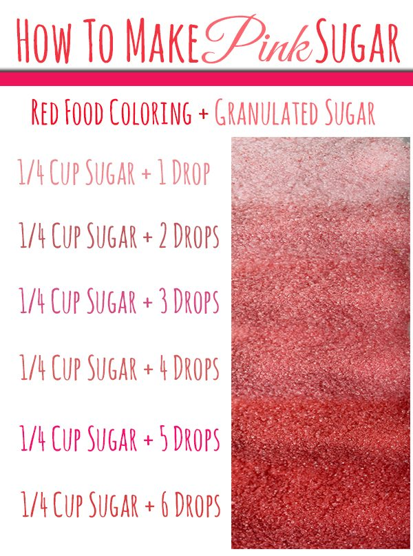 Learn How To Make Pink Sugar For Valentines Day Baby Showers