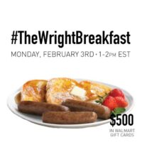#TheWrightBreakfast #shop Twitter Party 2/3/2014