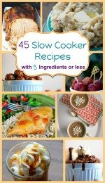 45 Slow Cooker Recipes with 5 Ingredients or Less