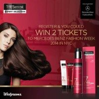 You could Win a $4,500 AMEX gift card plus 2 Invitations to Mercedes-Benz Fall Fashion Week from TRESemme®