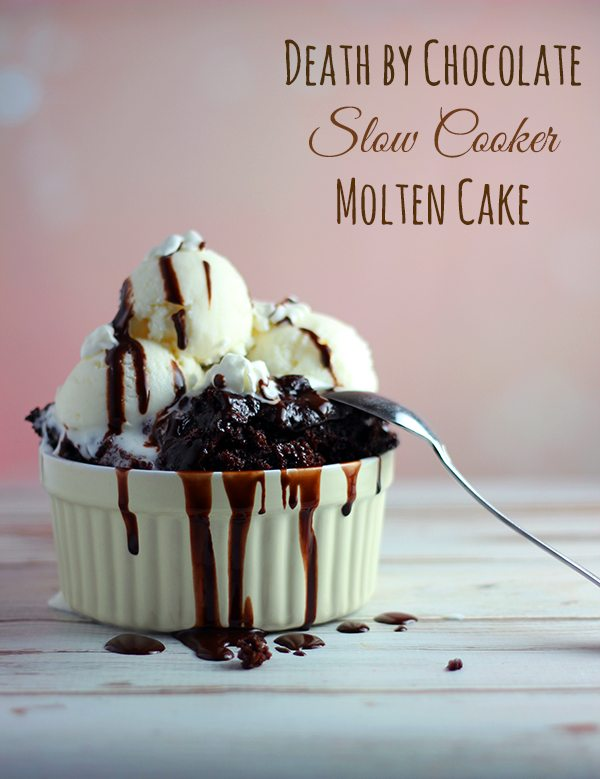 Try this Death by Chocolate Molten Cake with Nutella in your slow cooker #yum